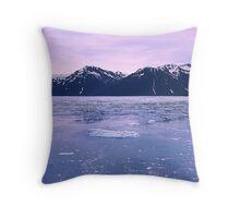 glacier dawn Throw Pillow