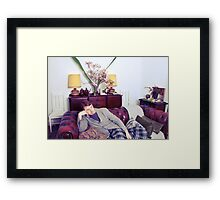 Un-Titled but still hopefull or Lamps and Magnolias Framed Print
