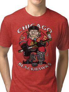 Chicago Blackhawk Skate or Die Tri-blend T-Shirt