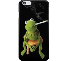 Kermit color photocopy style on blk iPhone Case/Skin