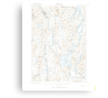Maine USGS Historical Map Livermore 460573 1910 62500 Canvas Print