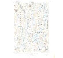 Maine USGS Historical Map Livermore 460573 1910 62500 Photographic Print