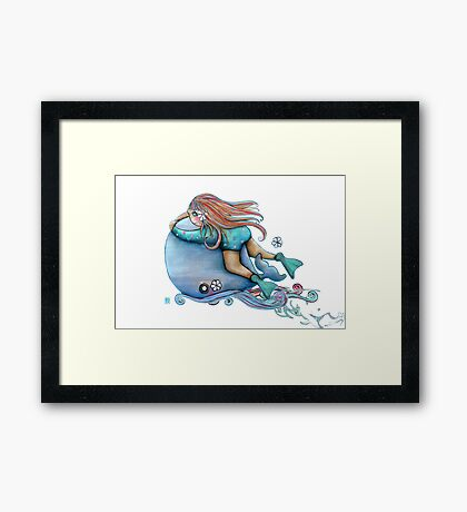 Save Our Whales Framed Print