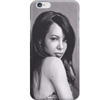 Realism Charcoal Drawing of Aaliyah iPhone Case/Skin