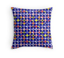 Checkered Nautical Signal Flags  Throw Pillow