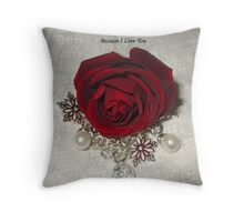 Ruby Pearl Romance Throw Pillow