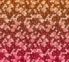 Hexagon Camo - Pinks by Ely Prosser