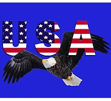 USA Eagle with Stars and Stripes Letters Photographic Print