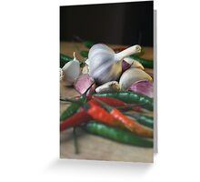 Garlic and chillies Greeting Card