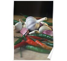 Garlic and chillies Poster