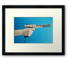 Zap Dem Ducks! Framed Print