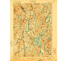 Maine USGS Historical Map Livermore 807555 1912 62500 Photographic Print