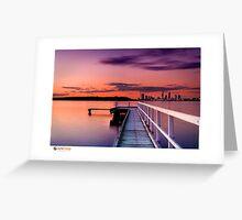 Jetty Sunset Greeting Card