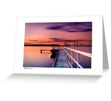 Jetty Sunset Greeting Card