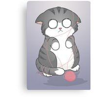 Tangled Kitty Canvas Print