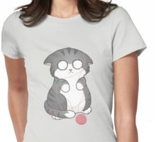 Tangled Kitty Womens Fitted T-Shirt