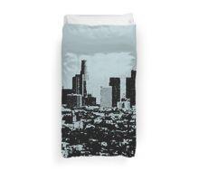 Los Angeles Skyline Stamp  Duvet Cover