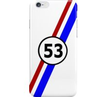 VW 53, Herbie the Love Bug's racing stripes and number 53 iPhone Case/Skin