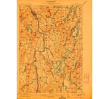Maine USGS Historical Map Livermore 807556 1912 62500 Photographic Print
