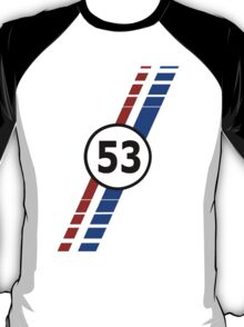 VW 53, Herbie the Love Bug's racing stripes and number 53 T-Shirt