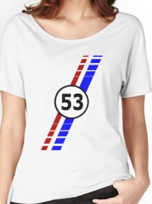 VW 53, Herbie the Love Bug's racing stripes and number 53 Women's Relaxed Fit T-Shirt