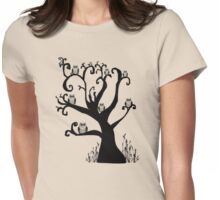 Owls Owls and more Owls Womens Fitted T-Shirt