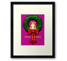 MERRY CHRISTMAS GUINEA PIG / HAMSTER Framed Print