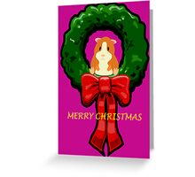 MERRY CHRISTMAS GUINEA PIG / HAMSTER Greeting Card