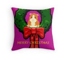 MERRY CHRISTMAS GUINEA PIG / HAMSTER Throw Pillow