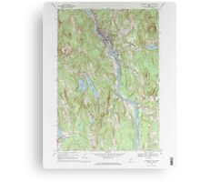 Maine USGS Historical Map Livermore Falls 102696 1967 24000 Canvas Print