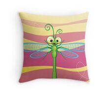 Critterz - Dragonfly 3 Throw Pillow