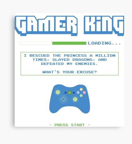 Gamer King Canvas Print