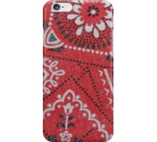 Red Bandana Print iPhone Case/Skin