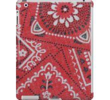 Red Bandana Print iPad Case/Skin