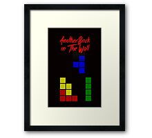 Another Brick in the Tetris Wall Framed Print