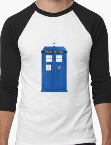 TARDIS Plain & Simple Men's Baseball ¾ T-Shirt