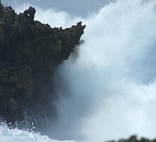 50 meter high waves by Karen Stackpole