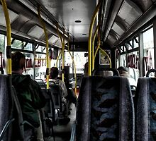 """""""A mile and a half on a bus takes a long time"""" (P1140285 _XnView) by Juan Antonio Zamarripa"""
