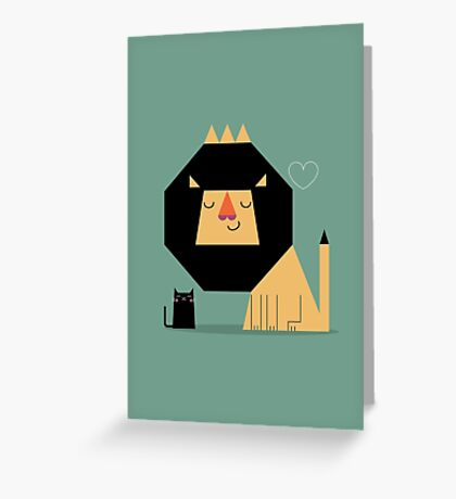 Love Lion Greeting Card