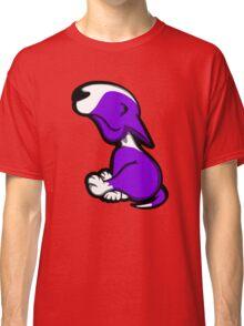 Innocent English Bull Terrier Puppy Purple  Classic T-Shirt