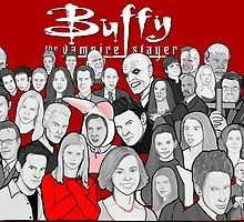 buffy the vampire slayer character collage by gjnilespop
