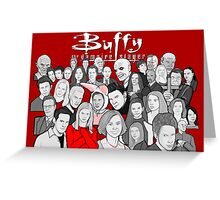 buffy the vampire slayer character collage Greeting Card