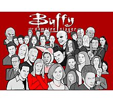 buffy the vampire slayer character collage Photographic Print