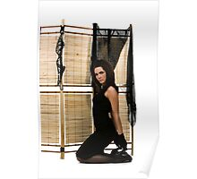 Folding screen Poster