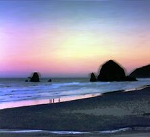 Cannon Beach At Sunrise by svetlananilova