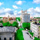 Historic Savannah - Vintage View Over Johnson Square by Mark Tisdale