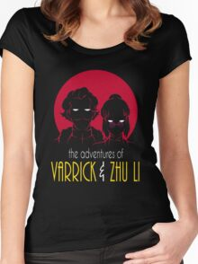 The Adventures of Varrick & Zhu Li Women's Fitted Scoop T-Shirt