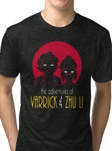 The Adventures of Varrick & Zhu Li Tri-blend T-Shirt