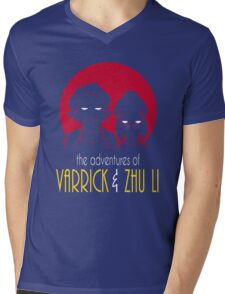 The Adventures of Varrick & Zhu Li Mens V-Neck T-Shirt