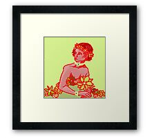 red on green Framed Print